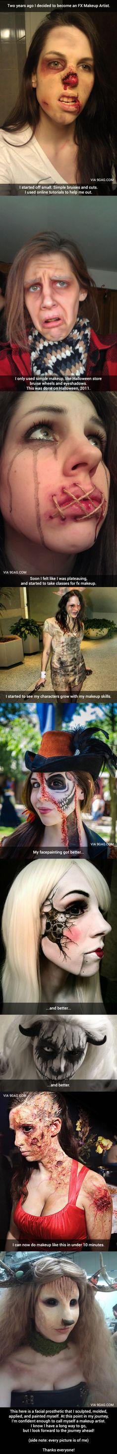 My Journey To Becoming An FX Makeup Artist