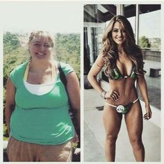 "gymaaholic: "" Amazing Woman Transformation Never give up! http://www.gymaholic.co """