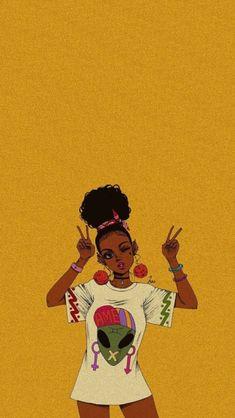 Most beautiful iphone wallpapers - Page 13 — wallpaper Black Love Art, Black Girl Art, Pop Art Girl, Black Girl Aesthetic, Aesthetic Art, Aesthetic Drawings, Aesthetic Painting, Drawings Of Black Girls, Blue Drawings