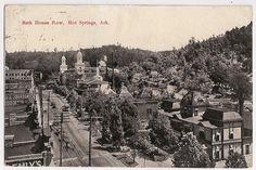 Bath House Row, Hot Springs National Park, Arkansas, early 1900's view