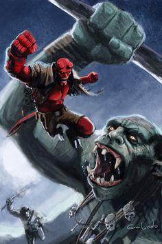 Hellboy - galindoart.deviantart.com