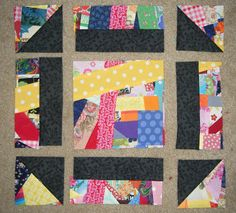 For this block of the month, we're going to take a classic quilt block, the churn dash, and pizazz it up with made and slashed fabric. This...