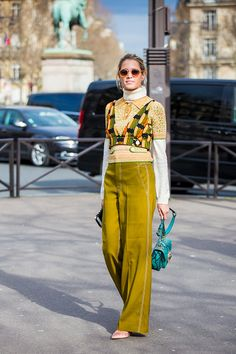 Helena Bordon is seen in the streets of Paris before the Miu Miu show during Paris Fashion Week Womenswear Fall/Winter 2017/2018 on March 7 2017 in...