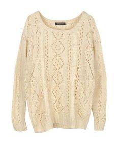$34.00 | Retro hollow loose knit sweater
