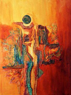 Original MIXED MEDIA Abstract Painting