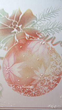 Last Christmas, Christmas Bulbs, Christmas Cards, Snow Effect, Bauble, Distress Ink, Tim Holtz, Poinsettia, Poppies