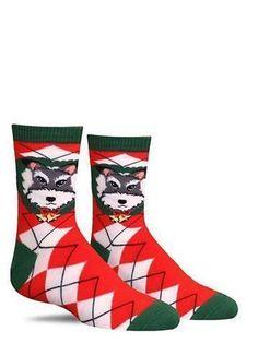 Mens Athletic Cushion Crew Sock Merry Christmas Cute Sleeping Bear Long Sock Cute