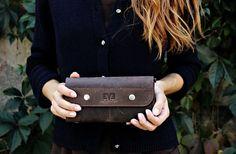 Leather wallet woman, Ladies long wallet, Original genuine leather clutch, leather wallet, iPhone wallet / Lark wallets
