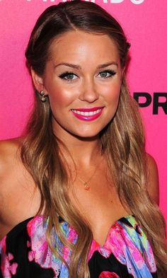 Lauren Conrad giving us some Bright Pink Lipstick Day inspiration with her pink lips www.pinkhope.org.au