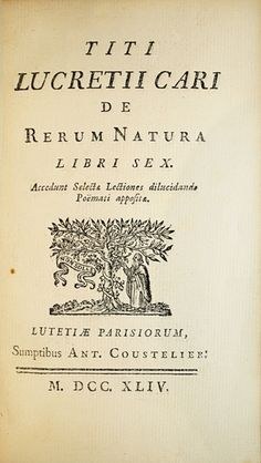 """Résultat de recherche d'images pour """"lucrece de natura rerum"""""""