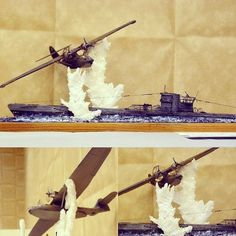 British PBY & Amp U-Boat Diorama diorama. Scale Model Ships, Scale Models, Boat Pics, Top Boat, Adventure Of The Seas, Build Your Own Boat, Model Hobbies, Military Modelling, Military Diorama