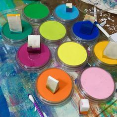 PanPastel play happening for me today! Love these creamy colors! #acolorfuljourney #artplay #panpastel @panpastel