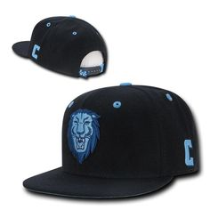 587a340dfcc NCAA Columbia University Lions Retro Flat Bill Accent Baseball Caps Hats