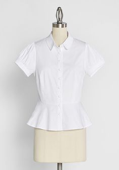 Polite Perfection Button Front Blouse