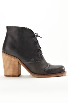 Shoe Crush: Charles by Charles David Grifter Bootie In Gray Leather. I can't tell you how much I love this shoe.