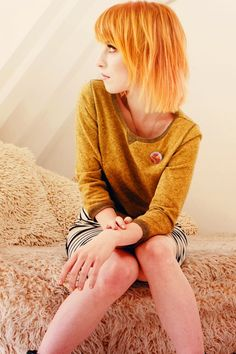 Hayley Williams of Paramore Hayley Williams Style, Paramore Hayley Williams, Hayley Williams Haircut, Haley Williams Hair, Hayley Paramore, Hair Inspo, Hair Inspiration, Love Hair, Bob Hairstyles