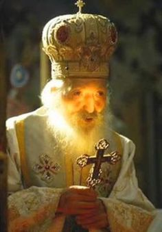 """Serbian Patriarch (from 1990~2009), Pavle, famous for saying """"let's be humans, even though we are serbs""""..."""