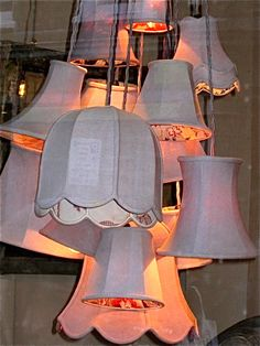 clusters of lampshades