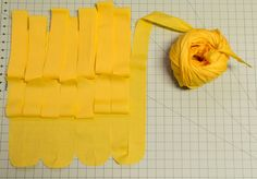 So you want to repurpose some old sheets or fabric remnants, but all you can find on Pinterest are tutorials on how to make T-shirt yarn. You want to make yarn with no knots from a flat sheet of fa…