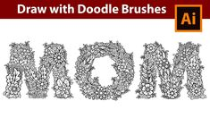 How to Draw MOM with Doodle Brushes in Adobe Illustrator - YouTube