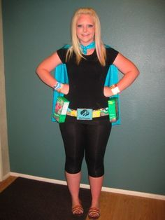 Bling Your Booth - GS Super Hero, Girl Scout Cookie Avenger Homemade Costume