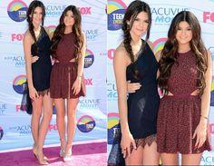 Teen Choice Awards 2012 - Kendall & Kylie Jenner. love their style