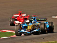 Fernando Alonso & Michael Schumacher Renault Formula 1 team & Scuderia Ferrari