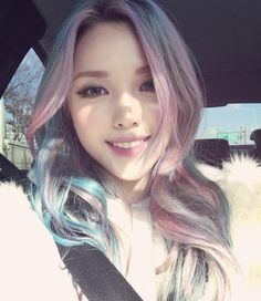 Find images and videos about hair, makeup and ulzzang on We Heart It - the app to get lost in what you love. Pony Makeup, Hair Makeup, Multicolored Hair, Colorful Hair, Asian Hair, Blonde Asian, Light Hair, Crazy Hair, Rainbow Hair