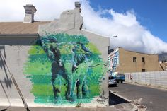 street art from Woodstock, Cape Town Street Art, Woodstock, Mount Rushmore, Elephant, African, In This Moment, Mountains, Cape Town, Artwork