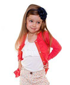 Coral Ruffle Cardigan - Toddler & Girls