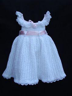 DE  MIS  MANOS  TEJIDOS  Y  MAS...: Lindo vestidito a crochet