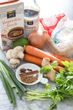 Vegetarian Pho (pronounced fuh) recipe... Delicious and full of different tastes! Explore with new foods with a pho recipe!