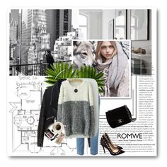 """""""Romwe Contest"""" by merylicious91 ❤ liked on Polyvore featuring MANGO, Zizzi, Dolce&Gabbana, Gianvito Rossi, Chanel, Bobbi Brown Cosmetics, Casetify and romwe"""