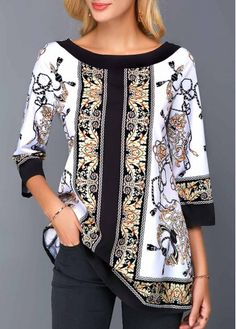 trendy tops for women online on sale Trajes Pakistani, All Fashion, Fashion Outfits, Cool Outfits, Casual Outfits, Look Formal, Trendy Tops For Women, Edwardian Dress, Batik Dress