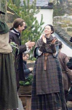 Filming season 2, Tobias and Cait, between the scenes