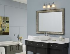 A Mirrormate Frame In Grandezza Aged Silver Was Added Directly To This Plate Gl Bathroom Mirror