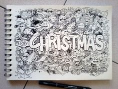CHRISTMAS DOODLES by kerbyrosanes on deviantART