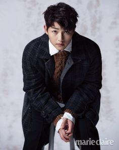 Male Fashion Trends: Song Joong Ki viste abrigadores looks para Marie Claire Korea Asian Actors, Korean Actresses, Korean Actors, Actors & Actresses, Song Joong, Song Hye Kyo, Korean Wave, Korean Men, Descendants