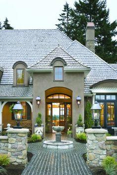French Country Elegance - traditional - exterior - portland - Alan Mascord Design Associates Inc