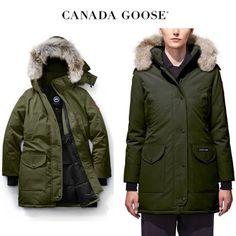 CANADA GOOSE ダウンジャケット・コート CANADA GOOSE Trillium Parka Fusion Fitオシャレに決まるカーキ Canada Goose Women, Canada Goose Jackets, Parka, Winter Jackets, Fashion, Winter Coats, Moda, Winter Vest Outfits, Fashion Styles