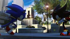 """Sonic the Hedgehog and Shadow the Hedgehog """"You fake hedgehog!"""" (Sonic Adventure 2 Quote)"""