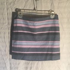 Gap mini skirt Gap mini skirt, purple strip, never worn! GAP Skirts Mini