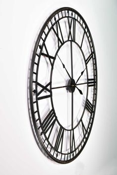 Large Black Wall Clock make a large wall clock | … grand clock with a rustic look would