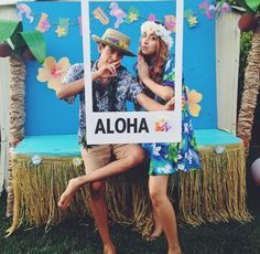Hawaiian party photo booth