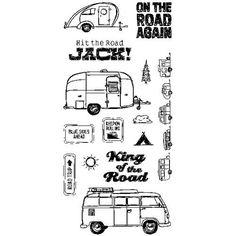 Inkadinkado Clear Stamps - Road Trip