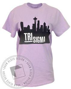 Sigma Sigma Sigma Finding Your Person Tee by Adam Block Design | Custom Greek Apparel & Sorority Clothes | www.adamblockdesign.com