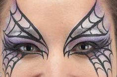 Spider mask face paint - Spider mask face paint step 1: for the base - goodtoknow