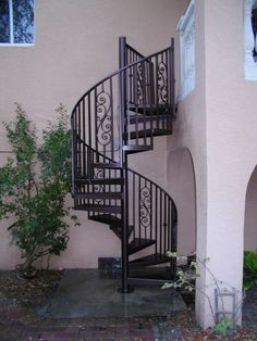 All Welded Aluminum Spiral Stair Powder Coated Bronze