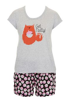 Image for Get Nutty Pj Set from Peter Alexander