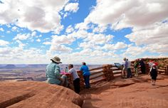 Tourists at Canyonlands at the Green River overlook.